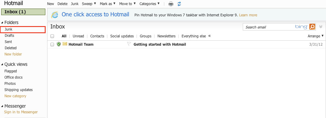 Hotmail Inbox