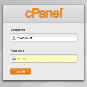 Your cPanel login