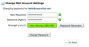 cPanel password generator