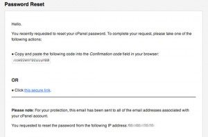 cpanel siteadmin confirmation code email