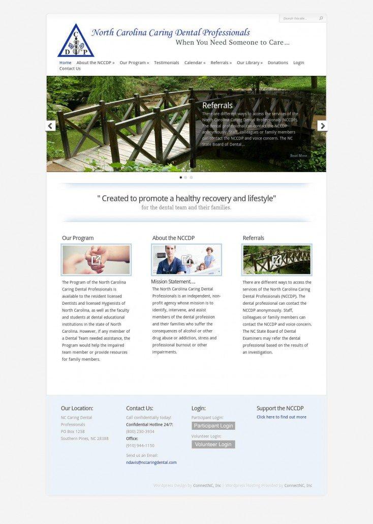 North Carolina Caring Dental Professionals – WordPress Web design ...