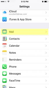 Apple iPhone Mail Setup 1