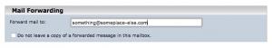 Forwarding email